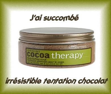 gommage au cacao de chez Origins